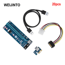 20pcs 60CM PCI-E Riser Card PCIE 1x to 16x Extende