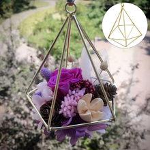 Estanteria pared estilo geométrico flores planta de metal quadro ar pendurado plantador diy casa decoração do jardim prateleira parede 19june4 p30