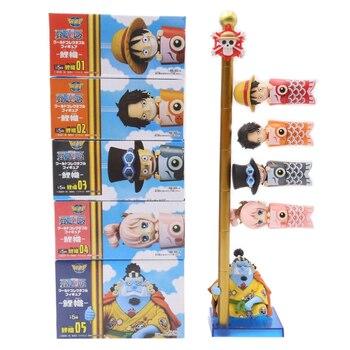 Lote de figuras de la bandera de carpas de One Piece Figuras de One Piece Merchandising de One Piece