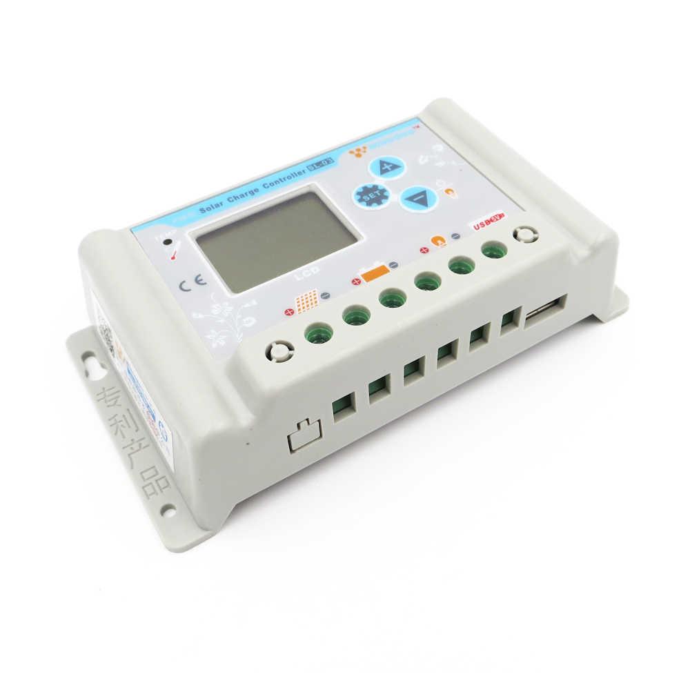 جهاز تحكم يعمل بالطاقة الشمسية 3A/10A/20A/30A 6/12/24/48/60V 3.7V 12.8V 11.1V 14.8V ليثيوم أيون متولى حسن LiFePO4 بطارية لوحة طاقة شمسية جهاز التحكم في الشحن