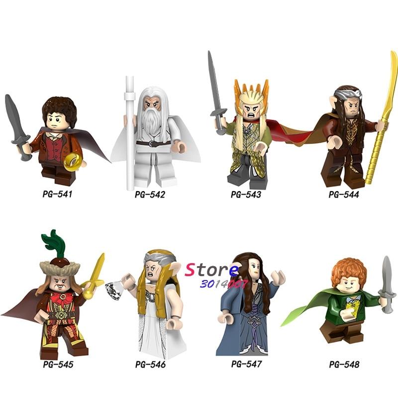 Single Model Building Blocks The Lord Of The Rings Gandalf Thranduil Galadriel Elrond Galadriel Merry Arwen  Bricks Toys