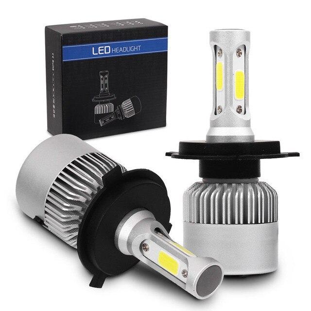 HAOSJ super bright Auto Car LED Bulbs H7 H4 H11 H1 H3 H13 880 9004 9005 9006 9007 9003 HB1 HB2 HB3 HB4 H27 LED Car Headlights