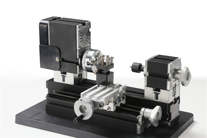 Metal Mini Lathe Machine TZ20002MG With 12000r/min Powerful 60W Motor DIY Tools Chrildren's Gift