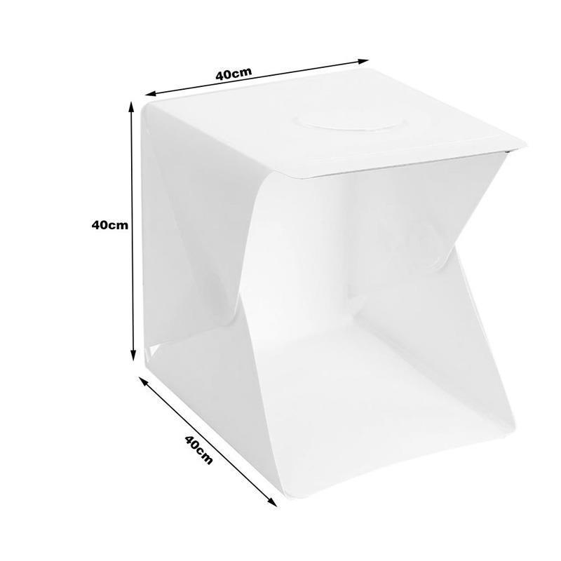 40 x 40 x 40cm Photo Studio Box Photography Backdrop Built-in Light Photo Box for DSLR Camera Photography Box Studio Accessories