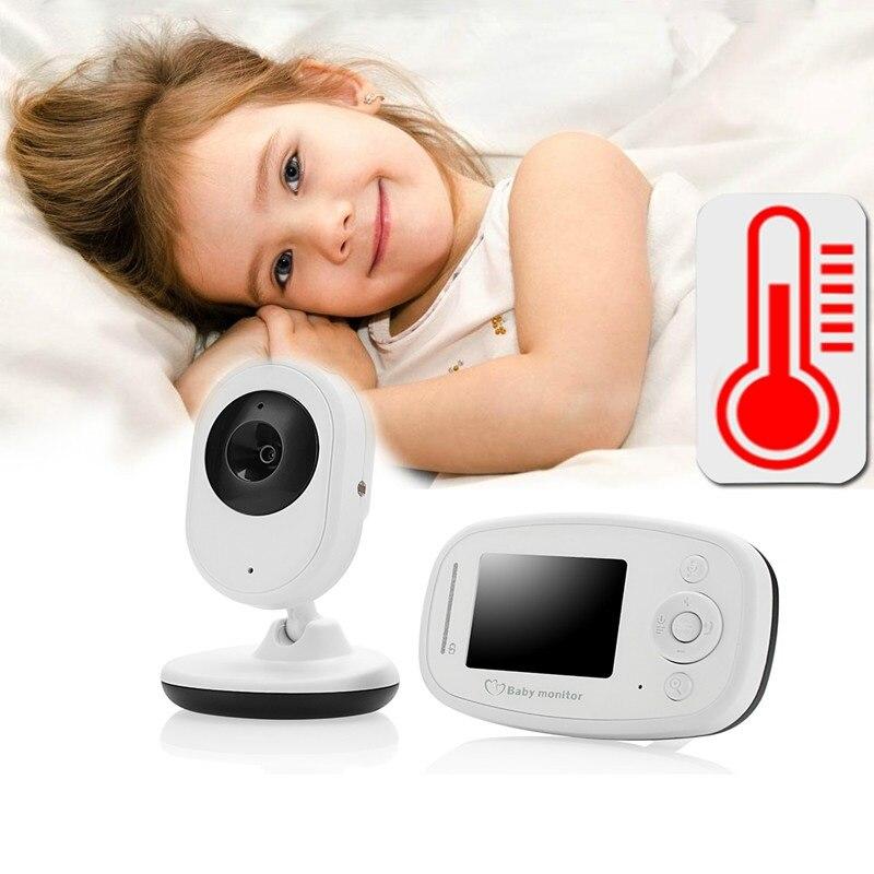 babykam niania elektroniczna baby monitor 2.4 inch LCD IR Night Light vision Intercom Lullabies Temperature Sensor niania kamera