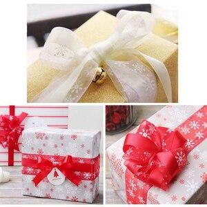 Image 3 - Lucia Crafts 5yard 10mm/25mm Snowflake Organza Ribbon DIY Bowknot Gift Wrapping For Christmas  DecorP0303