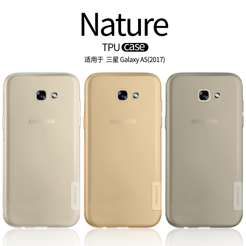 Nillkin Nature Ясно мягкий чехол TPU для samsung Galaxy A5 2017 A520F задняя крышка кожи для samsung A5 2017 Dual sim силиконовые чехлы