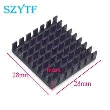 Radiador de alta qualidade 5 peças, dissipador de calor 28*28*6mm (groove quebrado preto)