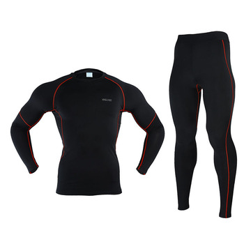Men Winter Thermal Warm Up Fleece Compression Cycling Base Layers Shirts Running Sets Jersey Sports Suits Cycling Sets jakroo elt2 female thermal cycling jacket full sleeve high neck fleece cycling jersey windcoat warm up bike cycling equipment