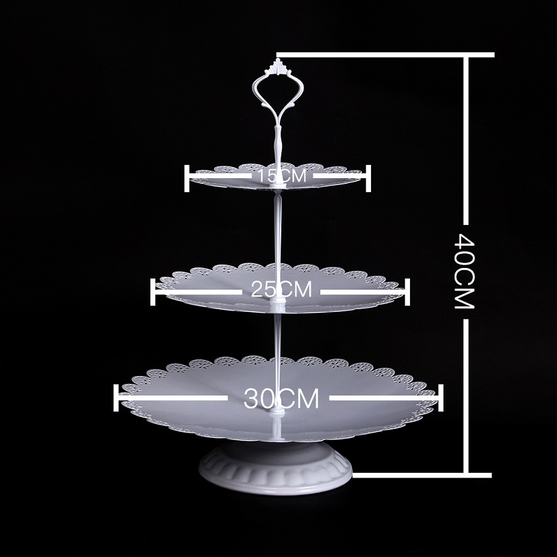 1 Pcs Set Gold Crystal Vintage Birthday 3 Tire Wholesale Cupcake Dessert Wedding Metal Cake Stand in Stands from Home Garden