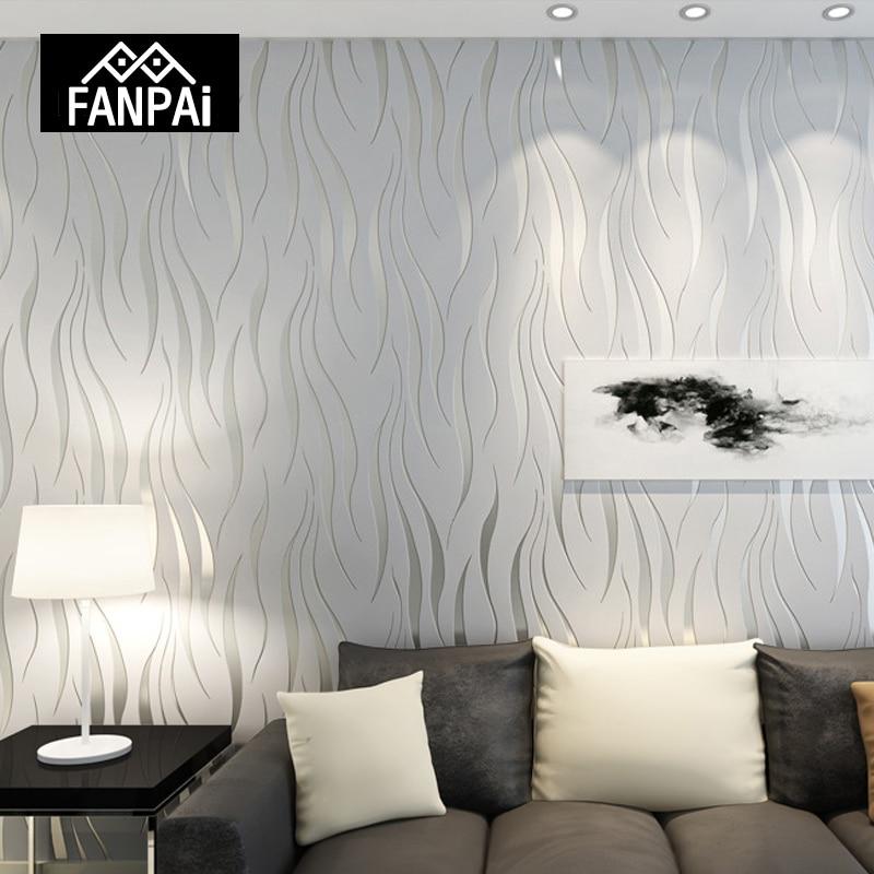 FANPAI Moderne 3D Tapete Streifen Wand Papier Papel De Parede Damast Tapeten  Für Wohnzimmer Schlafzimmer TV Wohnkultur Aufkleber