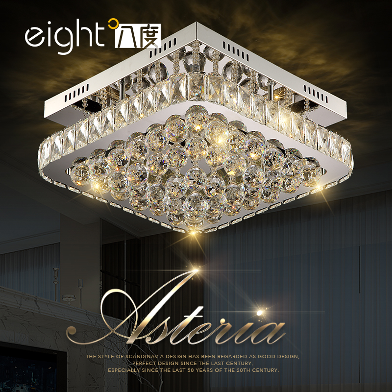 LED Ceiling Lights Modern K9 crystal luminaires home fixtures illumination living room Ceiling lamps bedroom Ceiling