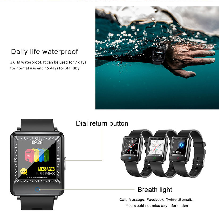 COLMI Dual Screen Smart Watch Men Blood Pressure Clock IP67 Waterproof Smartwatch Activity Fitness Tracker For android IOS phone 13