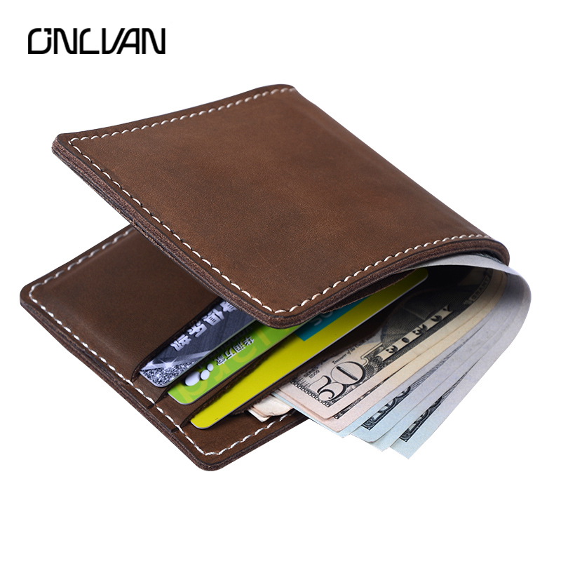 ONLVAN Wallet Men Leather Male Purse Money Credit Card Holder Genuine Coin Pocket Brand Design Money Billfold Maschio Clutch anime cartoon pocket monster pokemon wallet pikachu wallet leather student money bag card holder purse