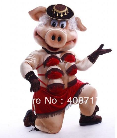 Puppets Striptease Strip Pig Swinish Sexy Porket Piggy -6247
