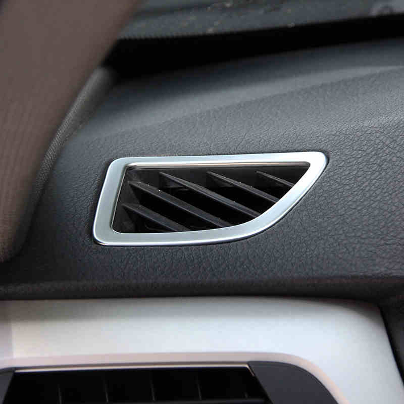 2017 Bmw 6 Series Gt Vs Bmw 5 Series Gt Interior Dashboard: 2*Chrome ABS Matt Dashboard Air Vent Outlet Frame Trim Fit