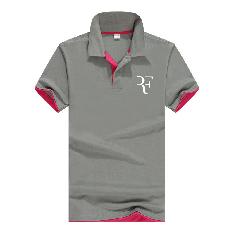 Summer Fashion Roger Federer Perfect Logo Printed Polo RF New Men High Quality Social Polo Shirts Polo Shirt For Women And Mens'