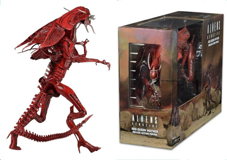 "EMS Free Shipping <font><b>Aliens</b></font> <font><b>Genocide</b></font> <font><b>Red</b></font> <font><b>Queen</b></font> Mother Deluxe <font><b>Action</b></font> <font><b>Figure</b></font> Collectible Model Toy 18"" 46cm MFG356"