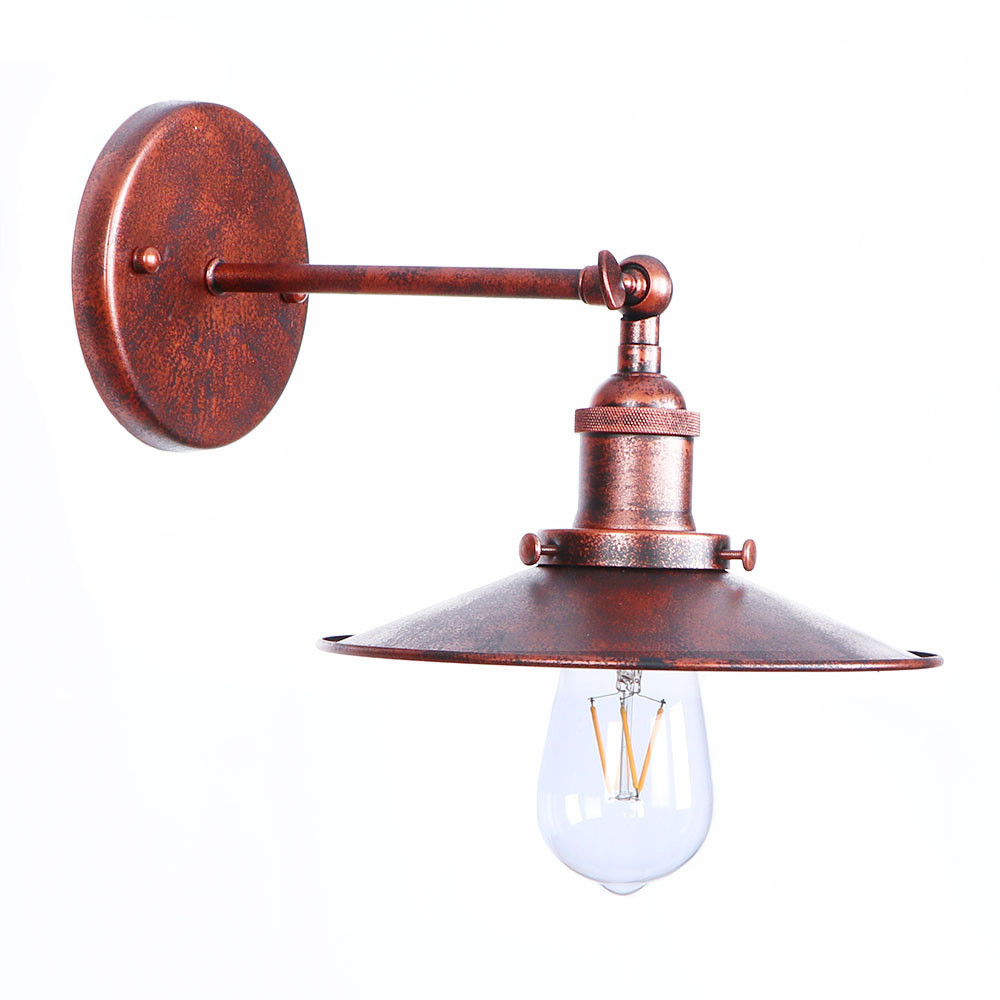 Antique Vintage LED Wall Lamp Beside Living Room Rust Iron Loft Industrial Wall Lights Home Stair Lighting Apliques Pared