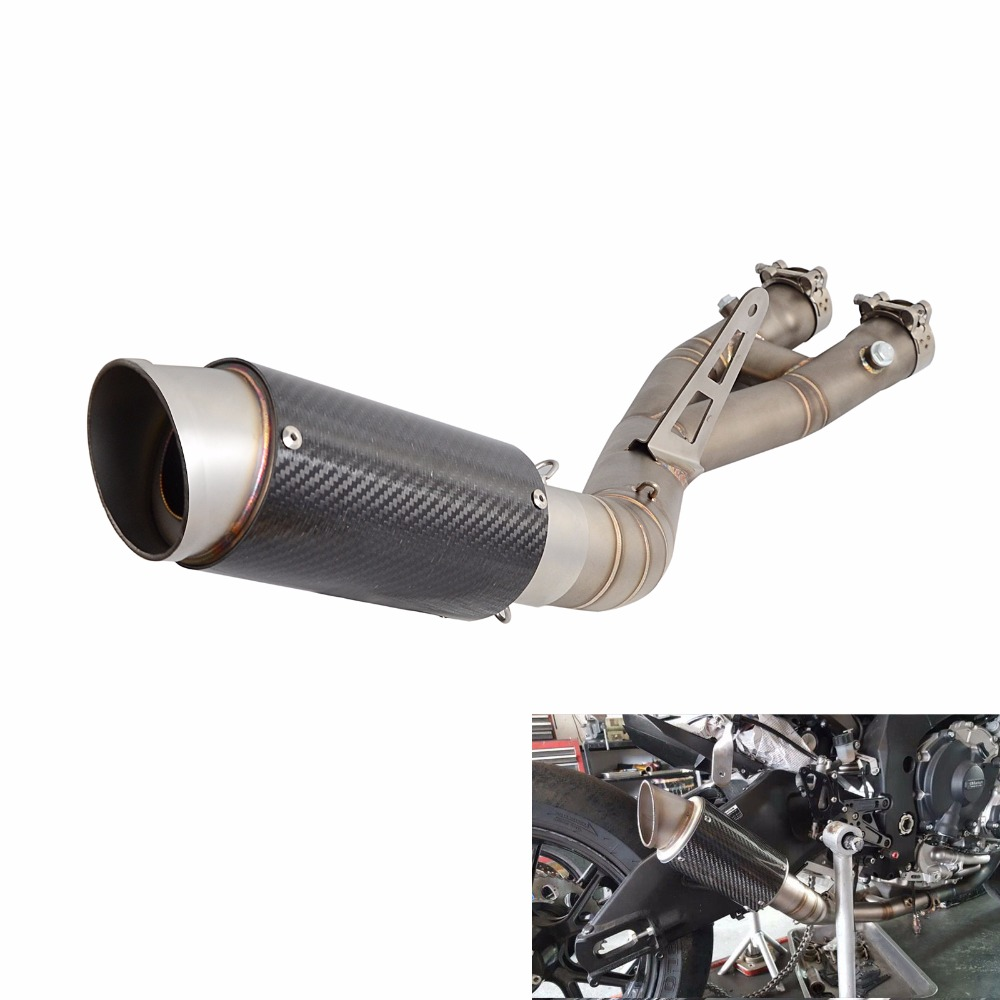 For 2015 2016 2017 Yamaha R1 R1m Stainless Steel Exhaust Slip On Mid Pipe Carbon: 2015 R1 Exhaust At Woreks.co