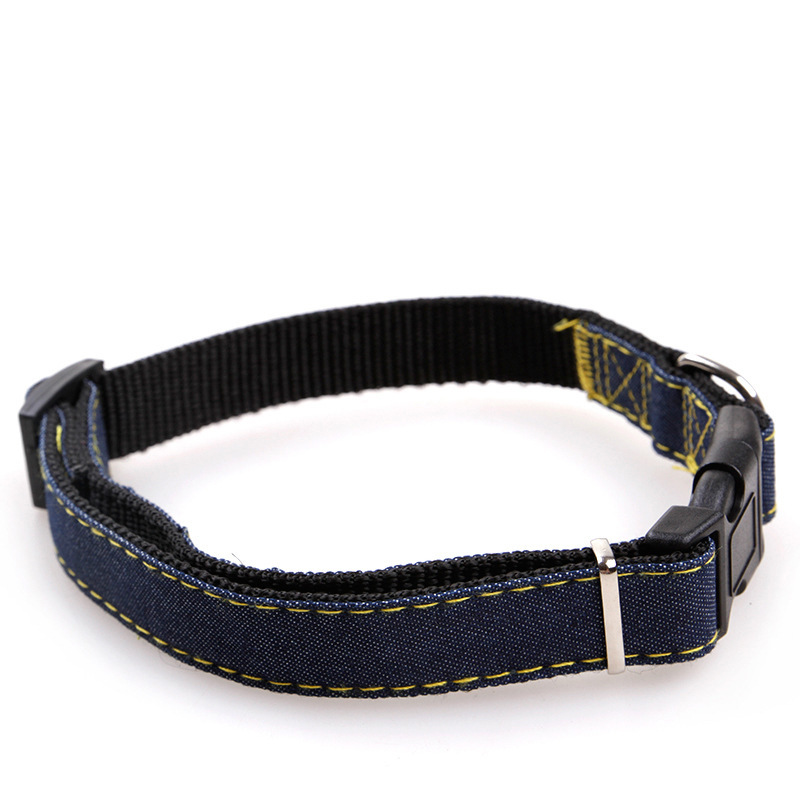 Pet Dog Cat Collar Clip Buckle Jean Collar Outdoor Sports Safety Lead Leash For Small Medium Dogs Chihuahua Cats S M L XL Strong (1)