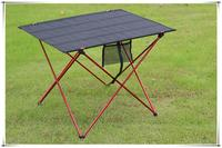 Ultraleve portátil dobrável mesa de liga alumínio mesa ao ar livre para pesca piquenique churrasco grande tamanho cinza vermelho|Mesas externas| |  -