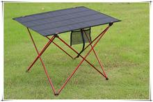 Ultralight Portable Folding Desk Aluminum Alloy outdoor Table for fishing picnic BBQ large size red gray desk