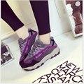 Новое Поступление Горячей Продажи моды марка Дышащий холст женщины повседневная обувь студенты обувь