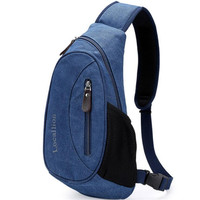Local Lion Korean Canvas Chest Bag Lightweight Men S Single Shoulder Bag Multifunctional Handbag Anti Theft