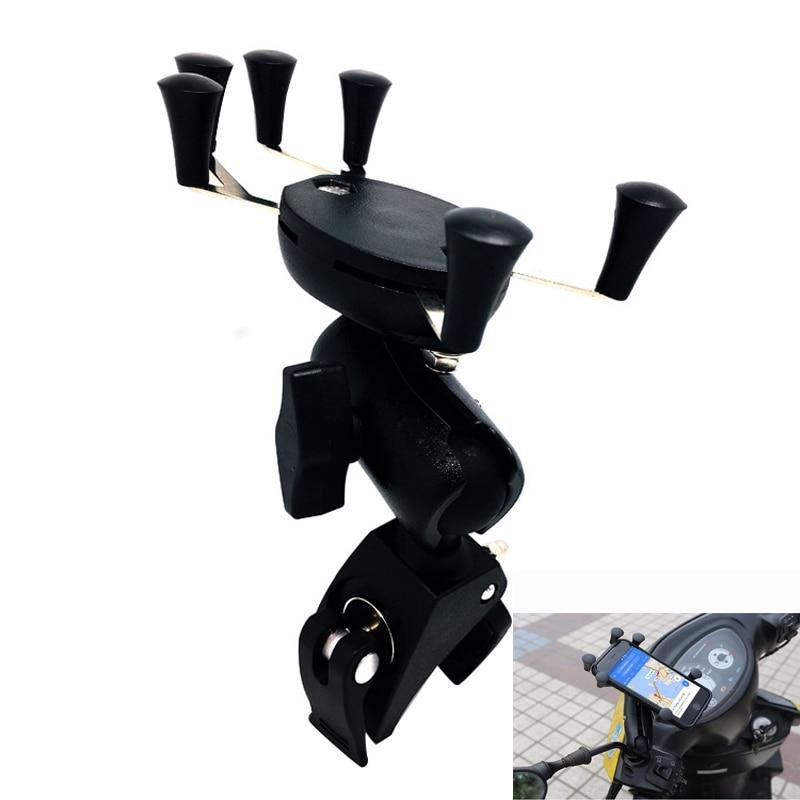 Universal Bike Bicycle Motorcycle MTB Phone Holder For iphone huawei Adjustable Rail Mount/X-Grip Bicycle <font><b>Handlebar</b></font> Mount Holder