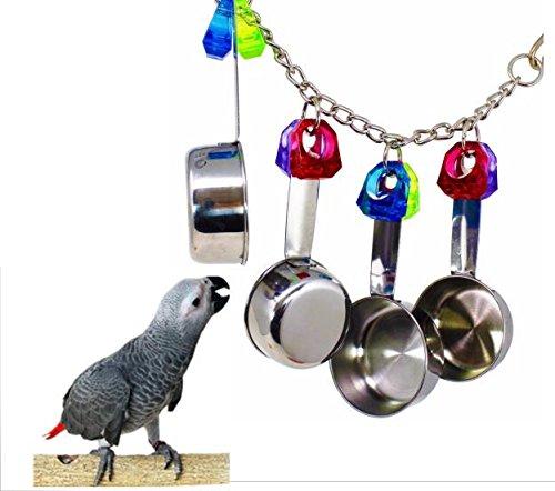 For Pet Bird Bites Parrot Chew Toys Bell Swing Cage Hanging Cockatiel Parakeet