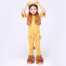 HALLOWEEN KIDS GIRLS CHILD MONKEY LION FANCY DRESS WITH CAT EAR HEADBAND COSTUME FAUX FUR COAT