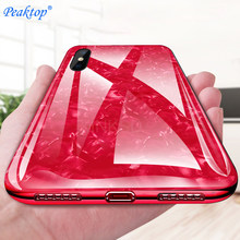 Tempered Glass Case For Huawei P20 P10 lite Mate 10 Pro Soft Frame Hard Back Bling Case On Honor 7C 7X 9 10 lite 7A Pro Cover(China)