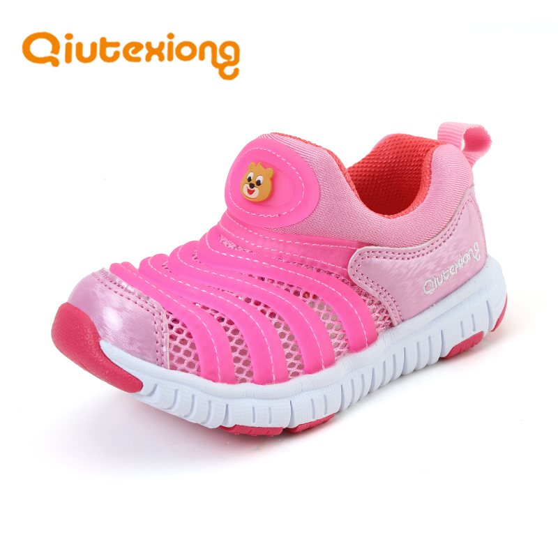 QIUTEXIONG Toddler Children Shoes For Boys Shoe Girls Casual Shoe Kids Sneaker Trainer Breathable Mesh School Student Cute Shoe