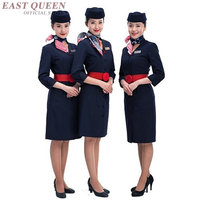 Women's airline pilot stewardess uniforms suits occupation work clothes overalls slim business skirt suits for women AA3381 F