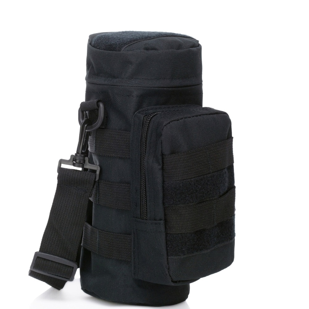 Outdoor Tactical Water Bottle Shoulder Pouch Carrier Holder Bag
