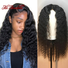 Lace Front Human Hair Wigs 13*4 Lace Wigs Malaysian Water Wave Human Hair Wigs Pre-Plucked Lace Front Wig with Baby Hair(China)