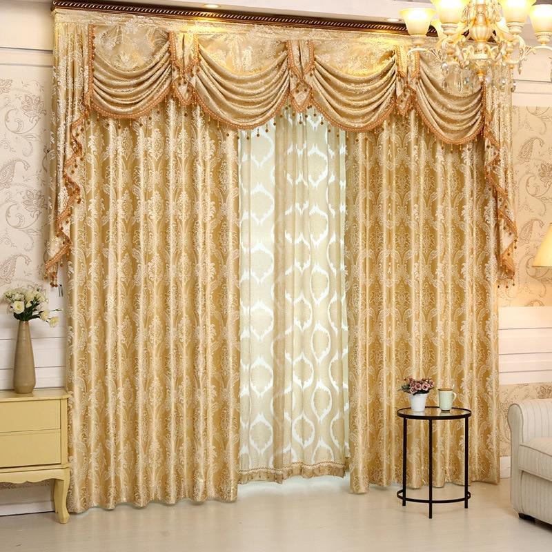 2016 Set New Europe Style Curtains Luxury Jacquard