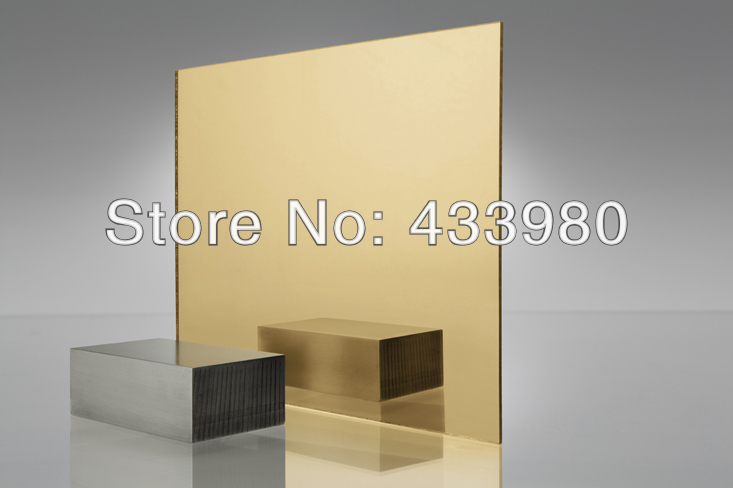 900mm x 300mm x 3.0mm akrylowe (PMMA) 1 stronne złote lustro 2 sztuk/partia w Lustra dekoracyjne od Dom i ogród na  Grupa 1