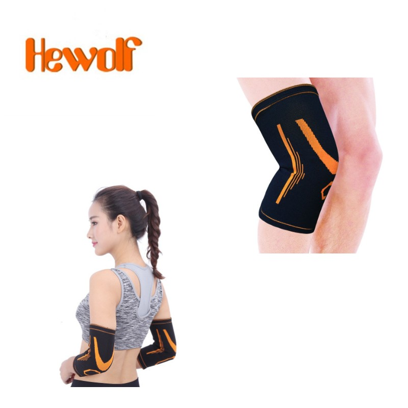 1pair Fitness Running Cycling Knee Support elbow pad Braces Elastic Nylon Sport Compression Pad Sleeve For Basketball l3321