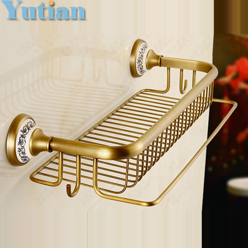 Hot Selling Antique Brass Bathroom Towel Holder Towel Rack Solid Brass Towel Rack With Hooks