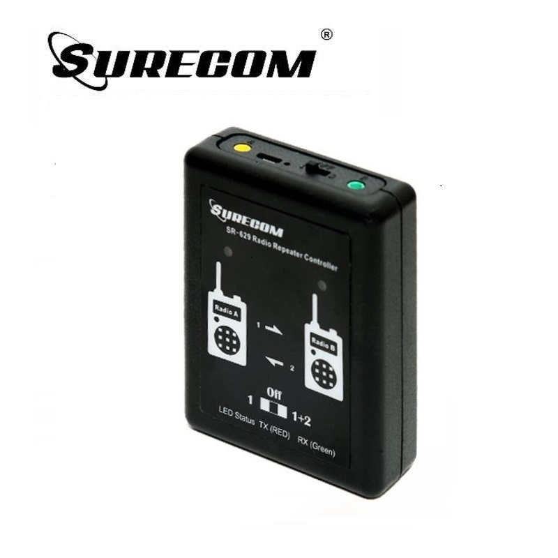 Surecom SR-629 2 In 1 Duplex Repeater Controller & 2 Radio Cable  For TYT Kenwood Baofeng ICom Motorola Two Way Radio