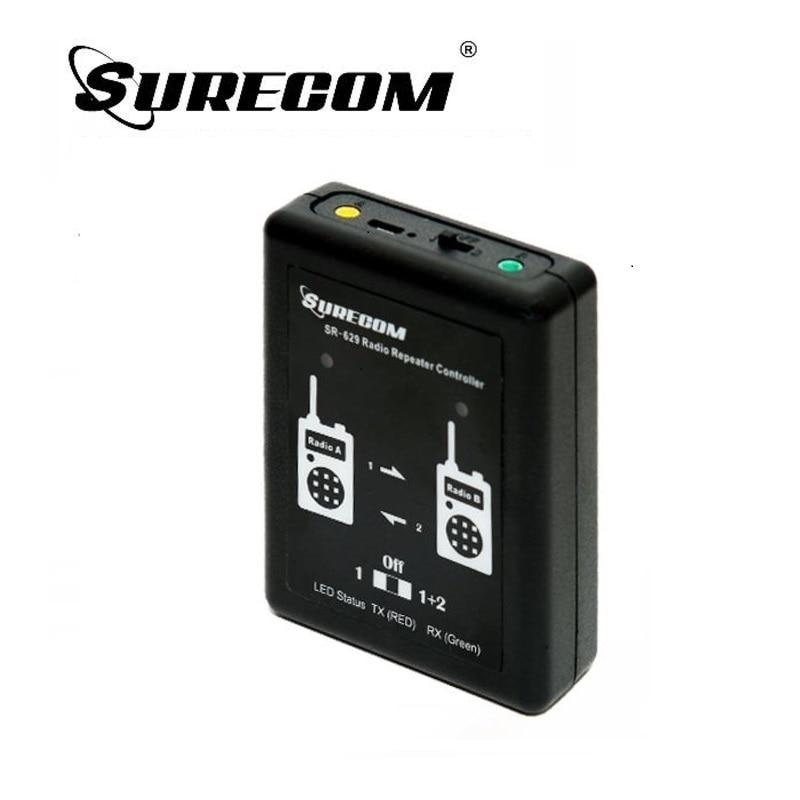 Surecom SR-629 2 in 1 Duplex Ripetitore Controller & 2 Cavo della Radio Per TYT TH Kenwood Baofeng ICom Motorola Two Way Radio