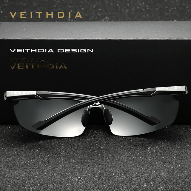 VEITHDIA Brand Men's Aluminum Magnesium Sun Glasses HD Polarized UV400 Sun Glasses oculos Male Eyewear Sunglasses For Men 6592