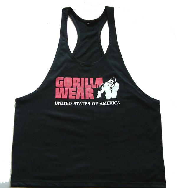 100% algodão Desgaste Gorila singlet Regatas Muscular dos homens Musculação treino Solto