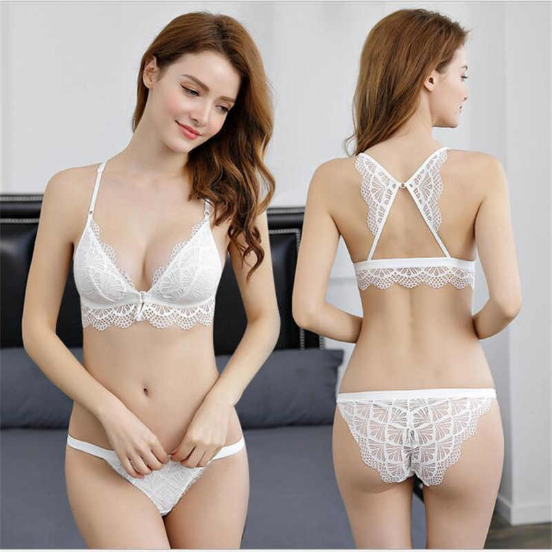 4e5e7dc1429 ... HGHISYU Sexy Lace Bra Wireless Open Bras Set For Women Push Up Cup  Embroidery Plus Size ...