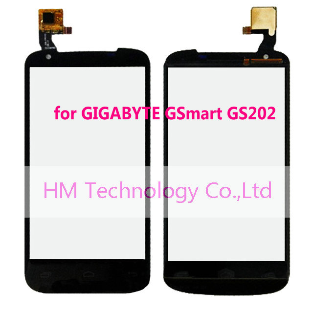 Black Touch Screen Digitizer GIGABYTE GSmart GS202 /4.3 inch Panel LCD Replacement Free HK Post+Code+Tools - HM Technology Co.,Ltd store