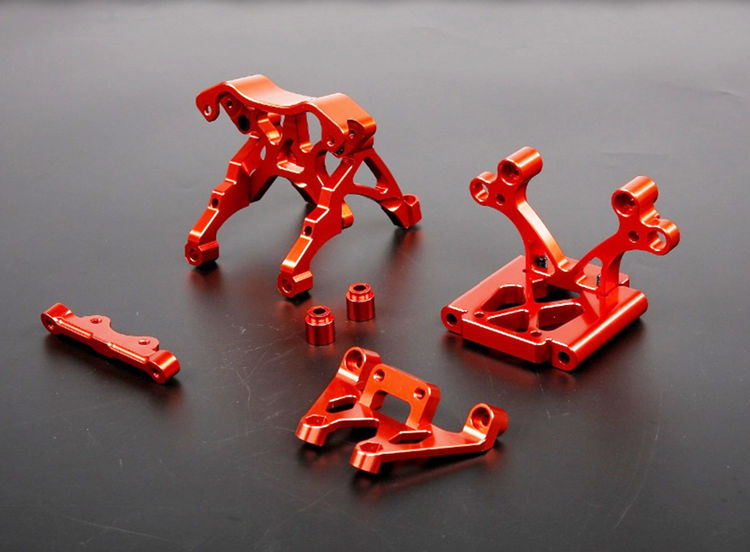 Baja CNC Alloy Front Bulk Head Kits Set For 1/5 Scale HPI KM Rovan Baja 5B 5T 5SC RC Car Upgrade Parts