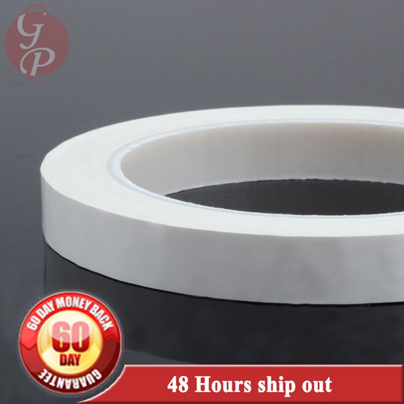 2x 16mm*66M*0.06mm PET High Temperature Insulating Anti-Flame Adhesive Mylar Tape for Transformer Coil WHITE #C1337 2x 13mm width adhesive insulation mylar tape for transformer motor capacitor coil wrap anti flame black