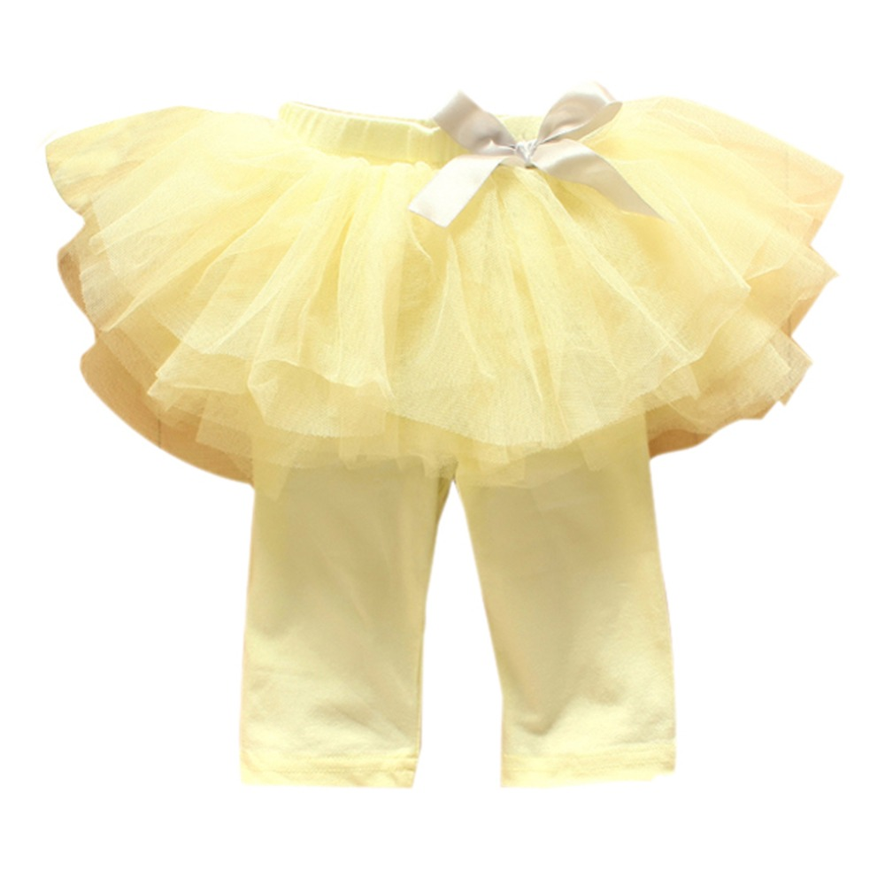 Kids-Baby-Girls-Culottes-Leggings-Gauze-Pants-Party-Skirts-Bow-Candy-Tutu-Dress-0-3Y-2